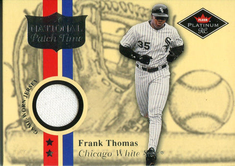 Frank Thomas 2001 Fleer Platinum Jersey Card