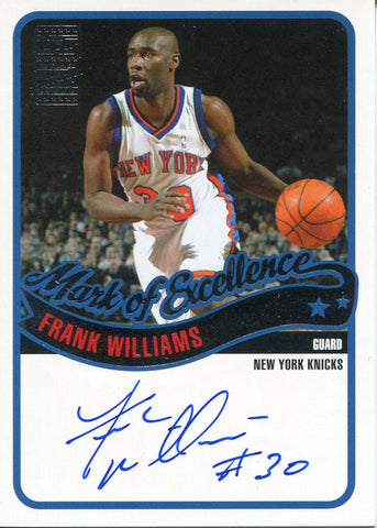 Frank Williams Autographed 2003 Topps Card