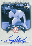 Fred Stanley Autographed 2003 Upper Deck Card