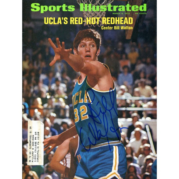 Bill Walton Autographed Sports Illustrated Magazine- March 6, 1972