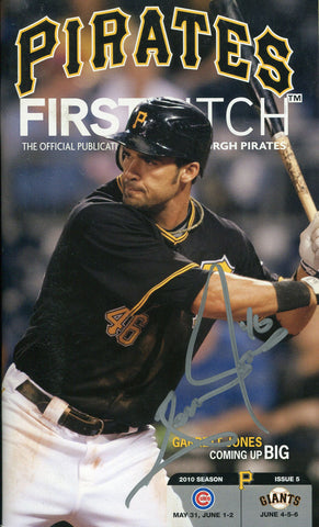 Garrett Jones Autographed Pittsburgh Pirates Program
