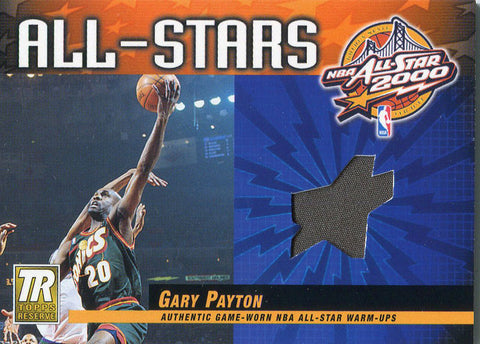 Gary Payton Unsigned 2000 Topps Jersey Card