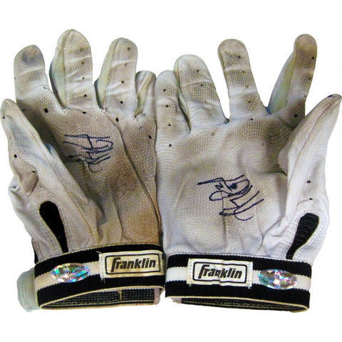 Hanley Ramirez Autographed Game Used Grey Batting Gloves