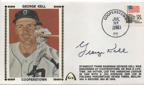 George Kell Autographed July 31, 1983 First Day Cover