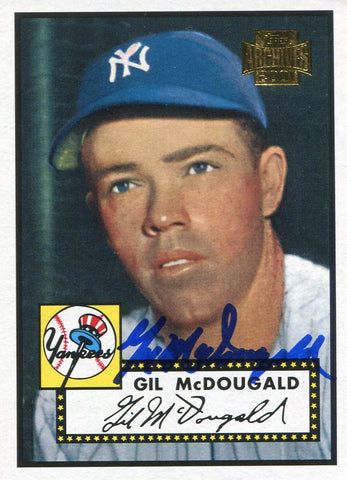 Gil McDougald Autographed 2001 Topps Archive Card