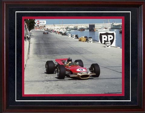 Graham Hill 1969 Monaco Grand Prix Framed 8x10 Photo