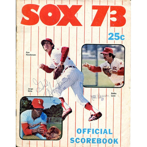 Chicago White Sox 1973 Signed Official Scorebook