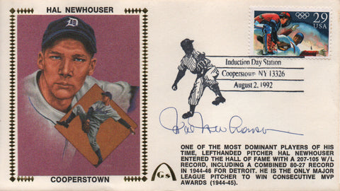 Hal Newhouser Autographed Aug 2, 1992 First Day Cover
