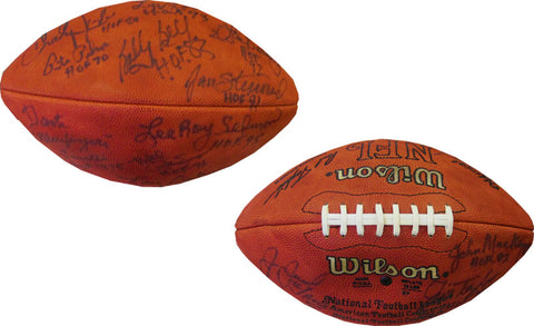 Hall of Famers Autographed Official NFL Football