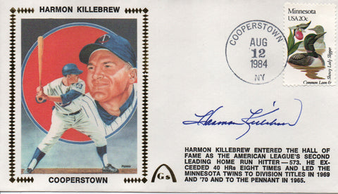 Harmon Killebrew Autographed Aug 12, 1984 First Day Cover (JSA)