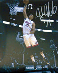 Hassan Whiteside Autographed Dunking Spotlight 11x14 Photo
