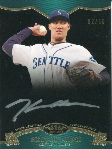 Hector Noesi Autographed 2012 Topps On he Rise Card