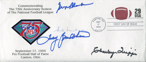 Terry Bradshaw, Charley Trippi, Sid Luckman, George Blanda Autographed First Day Cover