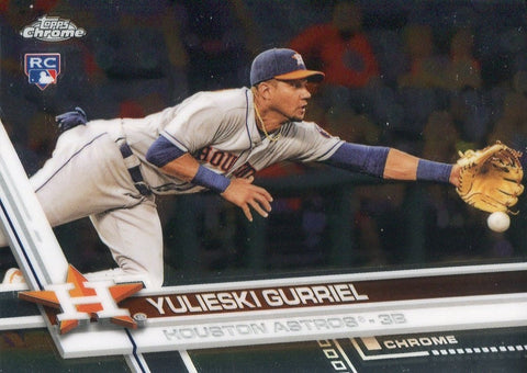 Yulieski Gurriel 2017 Topps Chrome Rookie Card