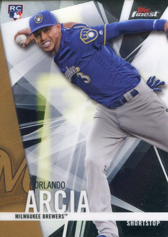Orlando Arcia 2017 Topps Finest Rookie Card