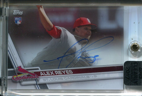 Alex Reyes Autographed 2017 Topps Clearly Authentic Rookie Card