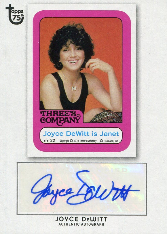 Joyce DeWitt 2013 Topps 75th Authentic Autograph Card