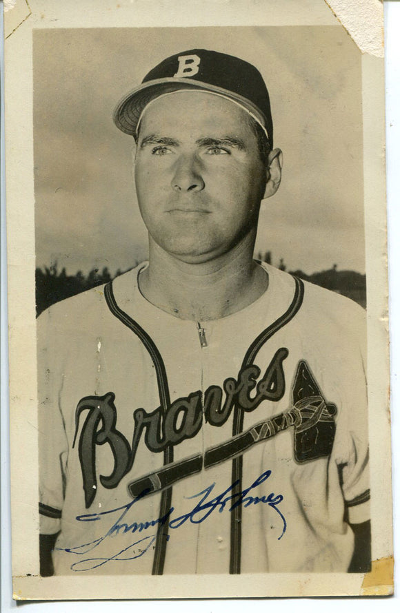 Tommy Holmes Autographed 3x5 Postcard