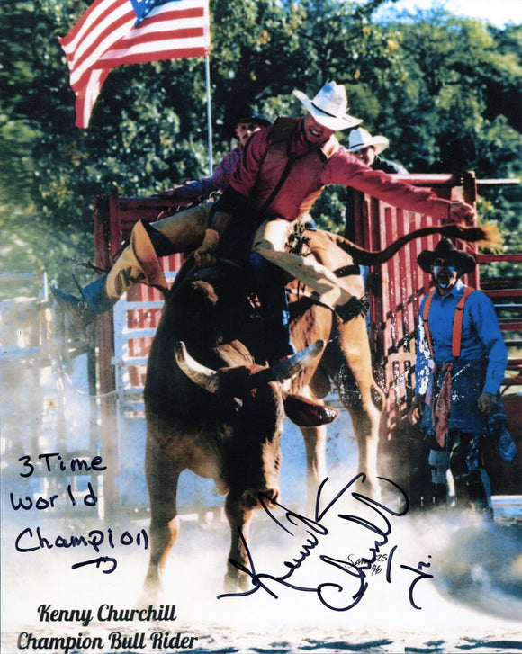 Kenny Churchill Autographed 8x10 Photo