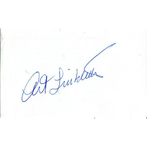 Art Linkletter Autographed 3x5 Card