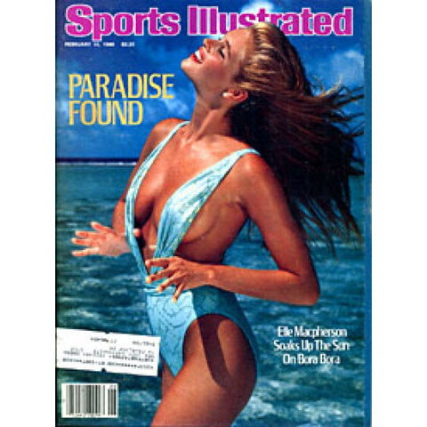 Elle Macpherson Unsigned Sports Illustrated Magazine - February 10 1986