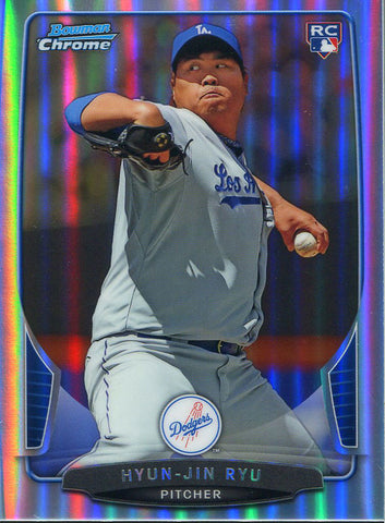 Hyun-Jin Ryu Unsigned 2013 Bowman Chrome Rookie Card
