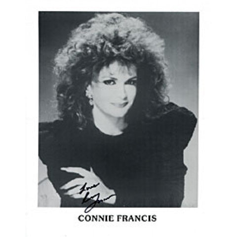 Connie Francis Autographed / Signed Celebrity 8x10 Photo