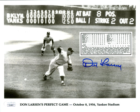 Don Larsen Autographed Perfect Game 8x10 Photo (JSA)