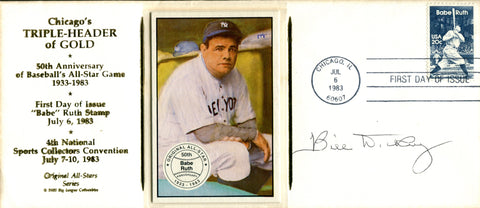 Bill Dickey Autographed July 6th, 1983 First Day Cover (PSA)