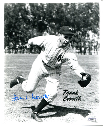 Frank Crosetti Autographed 8x10 Photo (JSA)