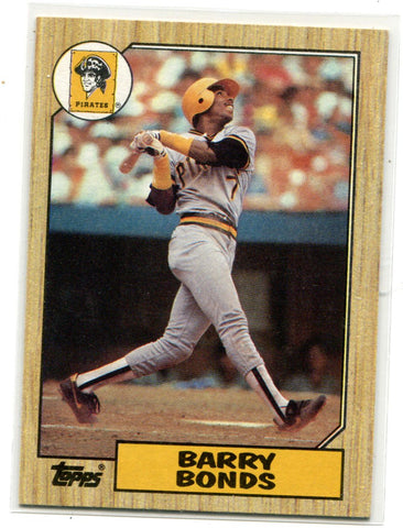 Barry Bonds 1987 Topps #320 Card