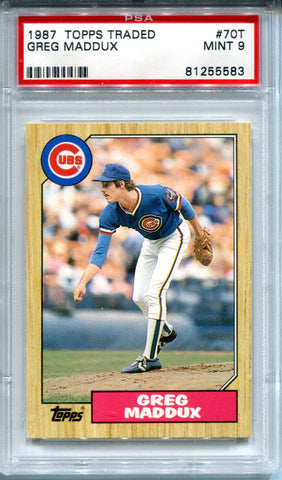Greg Maddux 1987 Topps Traded Rookie Card (PSA)