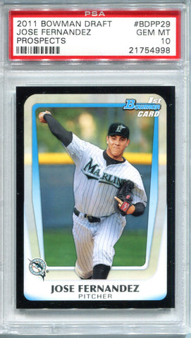 Jose Fernandez 2011 Bowman Draft Prospects Gem Mt 10 (PSA)