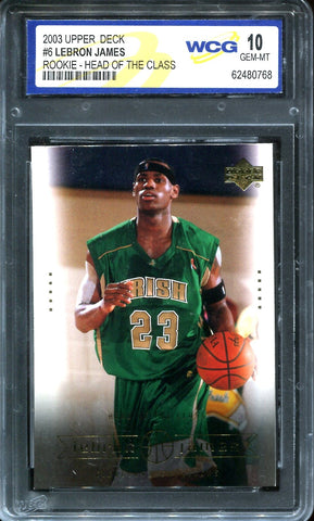 LeBron James 2003 Upper Deck Rookie-Head of The Class (WCG)