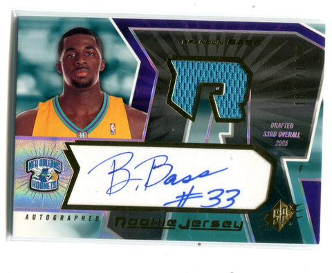 Brandon Bass Autographed 2005-06 Upper Deck Spx #143 Jersey Card