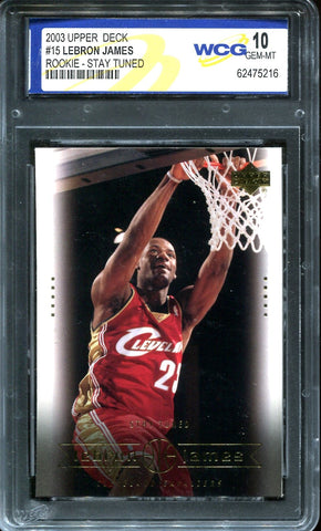 LeBron James 2003 Upper Deck Rookie-Stay Tuned (WCG)