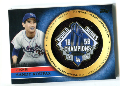 Sandy Koufax 2012 Topps World Series Champions #GCP-SK Card 683/736