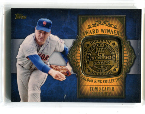 Tom Seaver 2012 Topps Award Winners Gold Ring Collection #GAR-TS Card