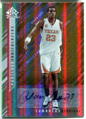 LaMarcus Aldridge Autographed 2006-07 Upper Deck Reflections Rookie Card