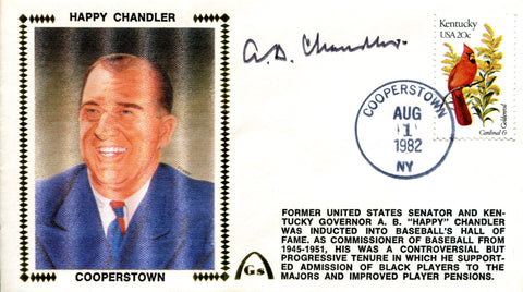 AB Chandler Autographed Gateway Aug 1 1982 First Day Cover