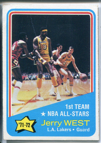 Jerry West 1972-73 Topps All-Star Card