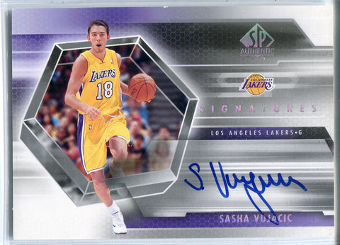 Sasha Vujacic Autographed 2005 Upper Deck SP Authentic Card