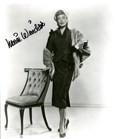 Marie Windsor Autographed 8x10 Photo