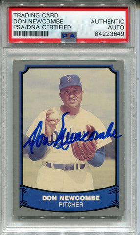 Don Newcombe Autographed 1988 Pacific Card #33 (PSA)