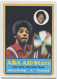 Julius Erving 1970 ABA All-Stars Card
