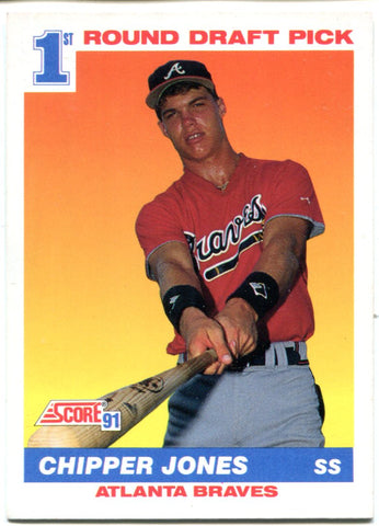 Chipper Jones 1991 Score Rookie Card