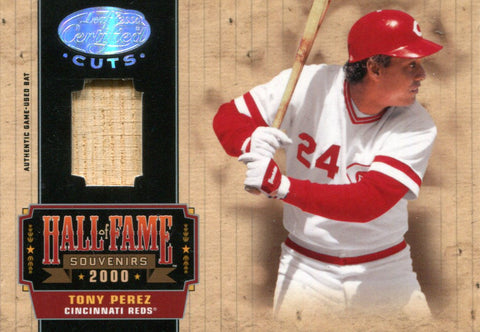 Tony Perez 2004 Leaf Certified Bat Card