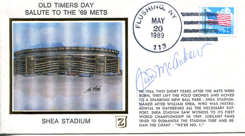 Jim McAndrew Autographed May 20 1989 First Day Cover