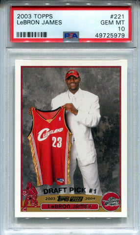 Copy of LeBron James 2003 Topps Rookie Card Mint 10 (PSA)