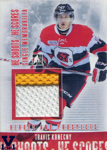 Travis Konecny 2014 In the Game Used Jersey Rookie Card